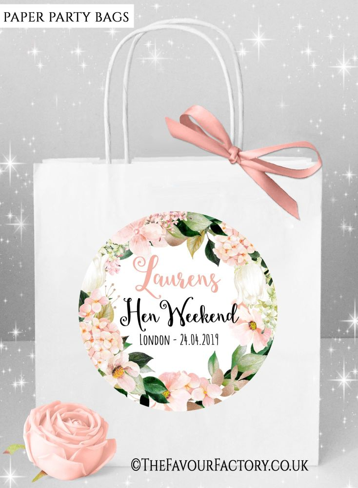 Blush Hydrangeas Hen Party Bags x1