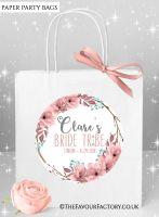 Boho Floral Wreath Hen Party Bags x1
