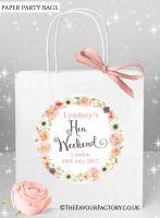 Hen Do Party Bags Boho Watercolour Flowers x1