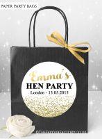 Hen Do Party Bags Gold Glitter Confetti x1