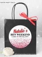 Red Glitter Confetti Hen Party Bags x1