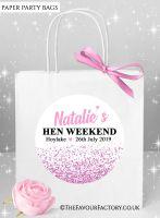 Pink Glitter Confetti Hen Party Bags x1