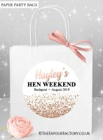 Rose Gold Glitter Confetti Hen Party Bags x1