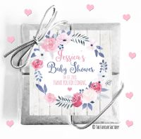 Midnight Rose Baby Shower Chocolates Quads
