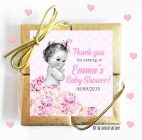 Personalised Baby Shower Chocolates Vintage Baby Girl x1