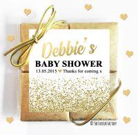 Glitter Confetti Gold Baby Shower Chocolates Quads