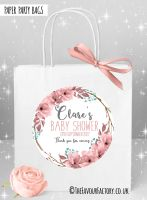 Baby Shower Party Bags Boho Floral Wreath x1