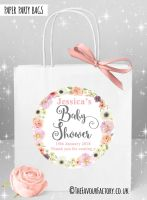Baby Shower Party Bags Watercolour Flowers x1