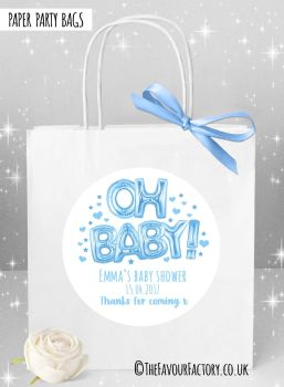 Baby Shower Party Bags Oh Baby Blue x1