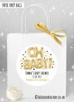 Baby Shower Party Bags Oh Baby Gold x1