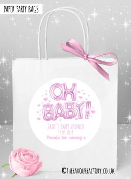Baby Shower Party Bags Oh Baby Pink x1