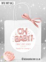 Baby Shower Party Bags Oh Baby Rose Gold  x1
