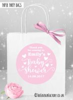 Baby Shower Party Bags Love Hearts Pink x1