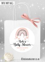 Baby Shower Party Bags Rainbow Pinks x1