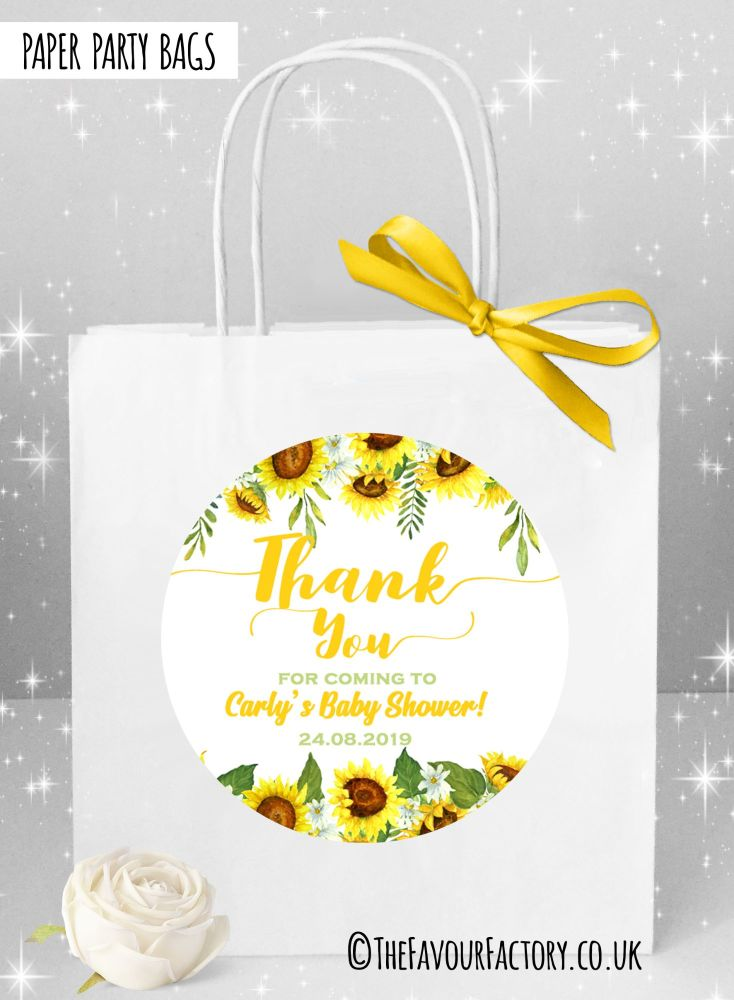 Baby Shower Party Bags Sunflowers x1