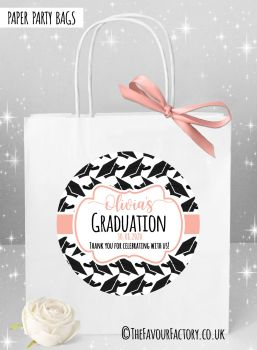 Doctoral Hats Rose Gold Graduation Party Bags x1