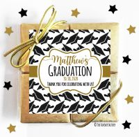 Gold Doctoral Hats Graduation Chocolate Quads x1