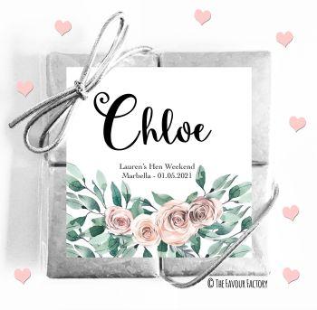 Hen Party Chocolates Quads Favours Floral Bouquet x1