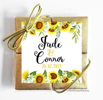 Wedding Chocolates Favours Quads Sunflowers Drop x1