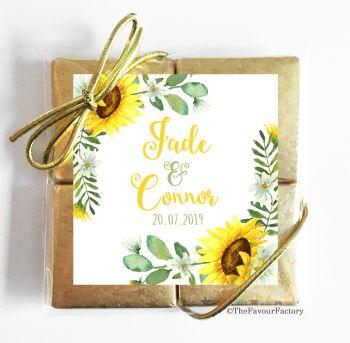 Wedding Chocolates Favours Quads Sunflowers x1