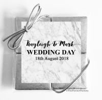 Marble Wedding Chocolate Favours Quads x1