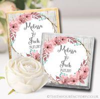 Wedding Chocolates Favours Boho Floral Wreath x10