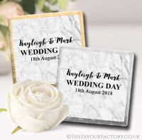 Personalised Wedding Chocolates Favours Marble x10