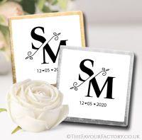 Personalised Wedding Chocolates Split Monogram x10