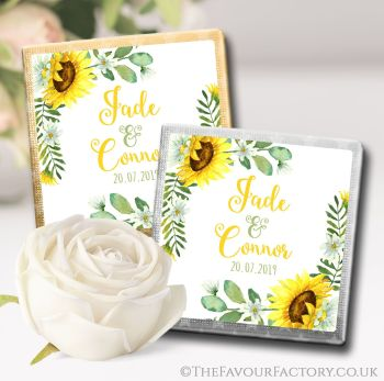 Wedding Chocolates Favours Sunflowers x10