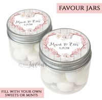 Wedding Favour Jars Personalised Floral Heart Branch