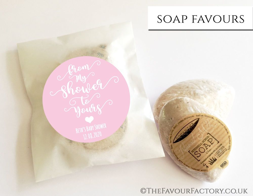 Baby Shower Soap Favours From My Shower To Yours Baby Pink x1