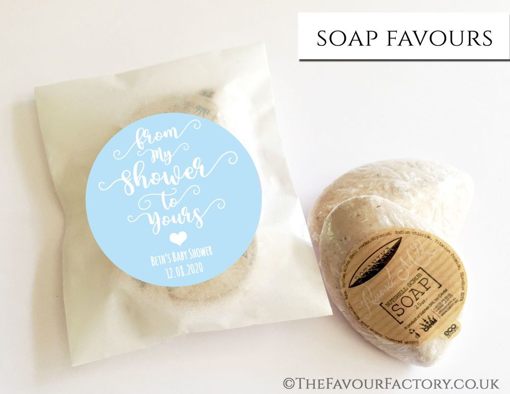 Baby Shower Soap Favours From My Shower To Yours Blue x1