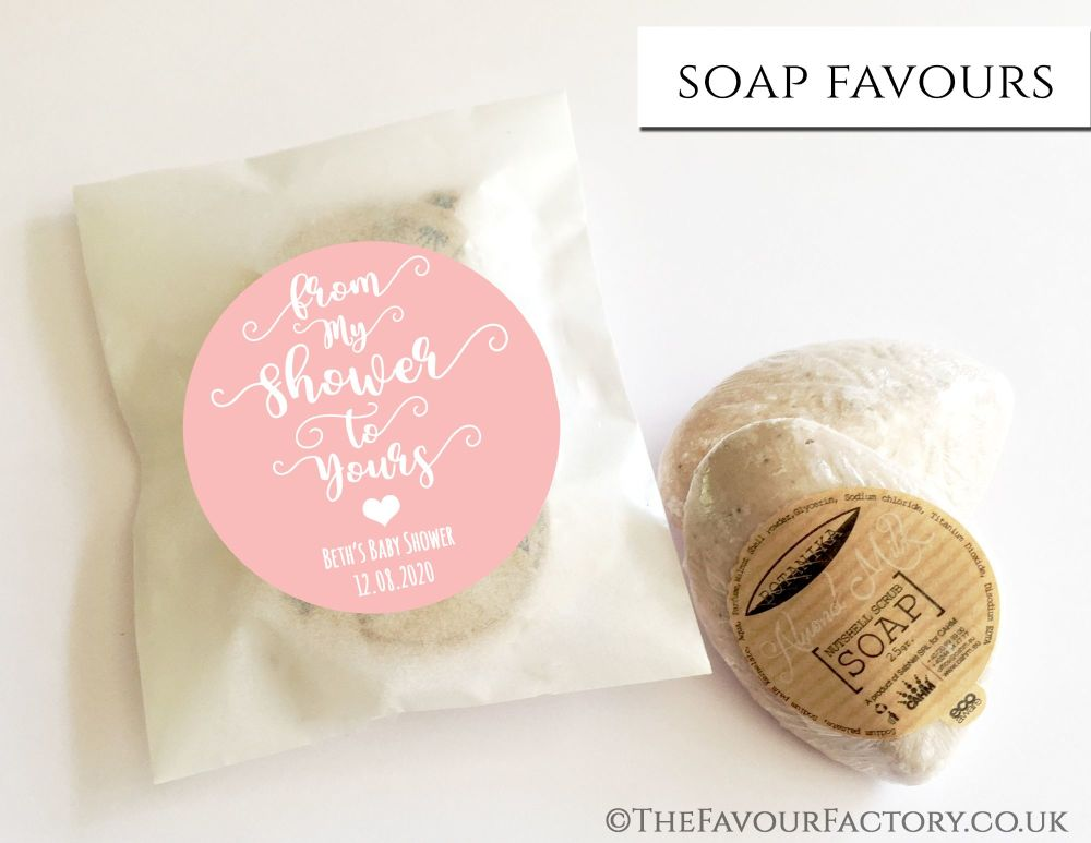 Baby Shower Soap Favours From My Shower To Yours Rose Pink x1