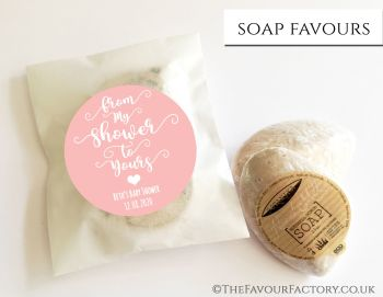 Baby Shower Soap Favours From My Shower To Yours Rose Gold x1