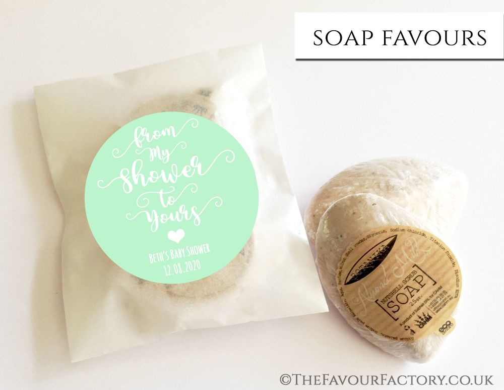 Baby Shower Soap Favours From My Shower To Yours Mint x1