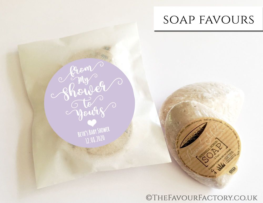 Baby Shower Soap Favours From My Shower To Yours Lavender x1