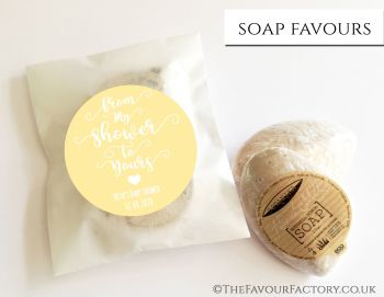 Baby Shower Soap Favours From My Shower To Yours Yellow x1