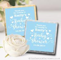 Baby shower Chocolates Blue Hearts x10