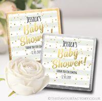 Baby Shower Chocolates Confetti Stripes x10
