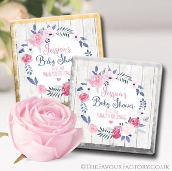 Baby Shower Chocolates Favours Midnight Rose x10