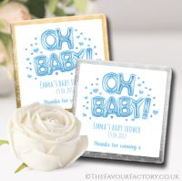 Baby shower Chocolates Blue Oh Baby Balloons x10