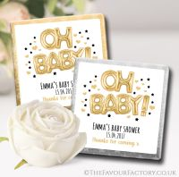 Baby Shower Chocolates Gold Oh Baby Balloons x10