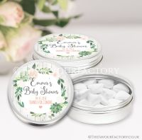 Succulents Baby Shower Favour Tins x1