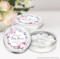 Midnight Rose Baby Shower Favour Tins x1