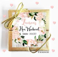 Hen Party Chocolate Quads Blush Hydrangeas x1
