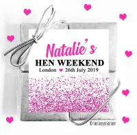 Hen Party Chocolate Quads  Hot Pink Glitter Confetti x1