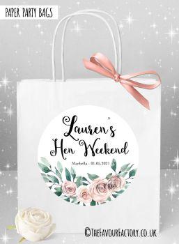 Hen Do Party Bags Boho Floral Bouquet x1