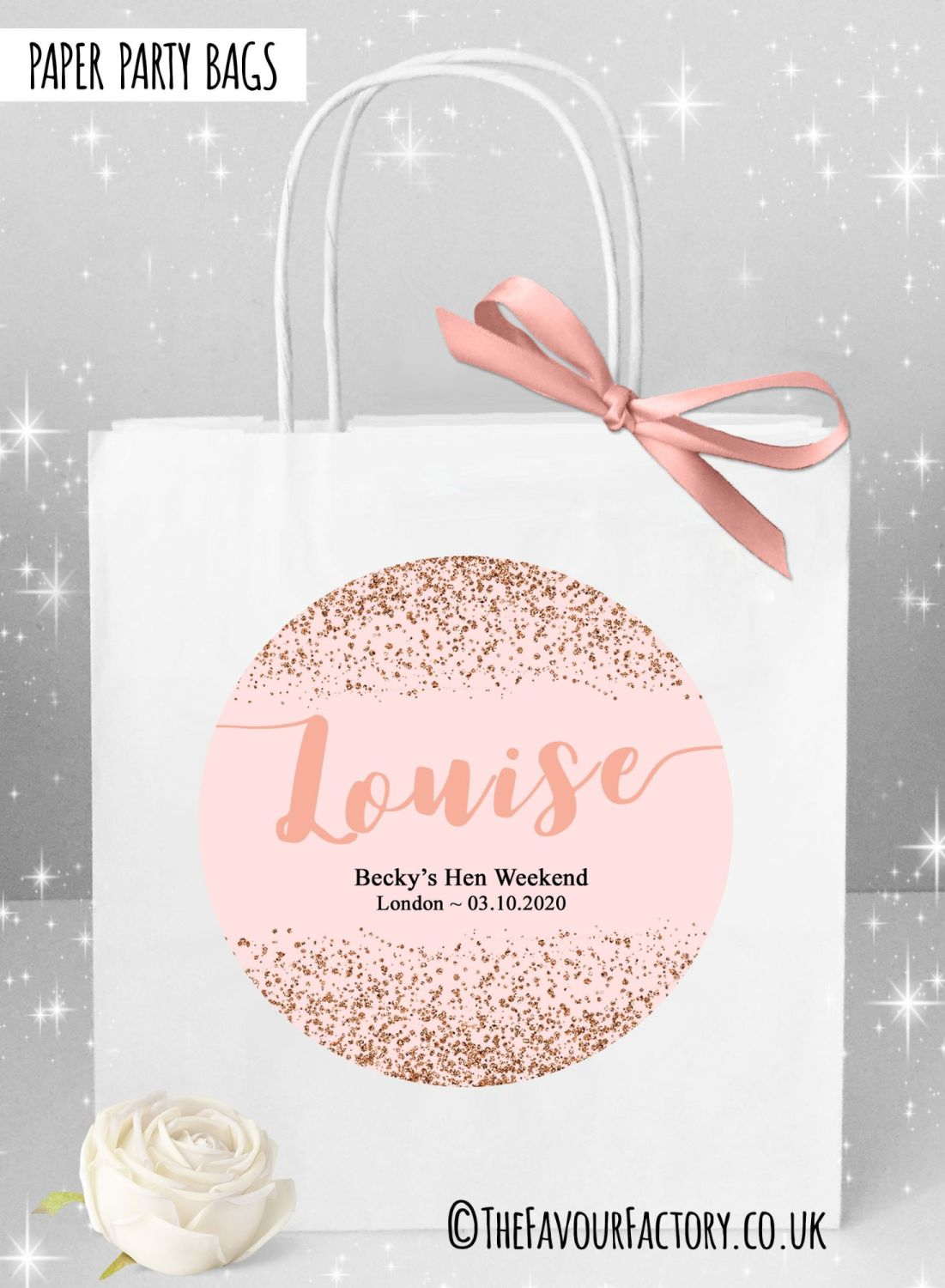 Hen Do Party Bags Named Individually  x1