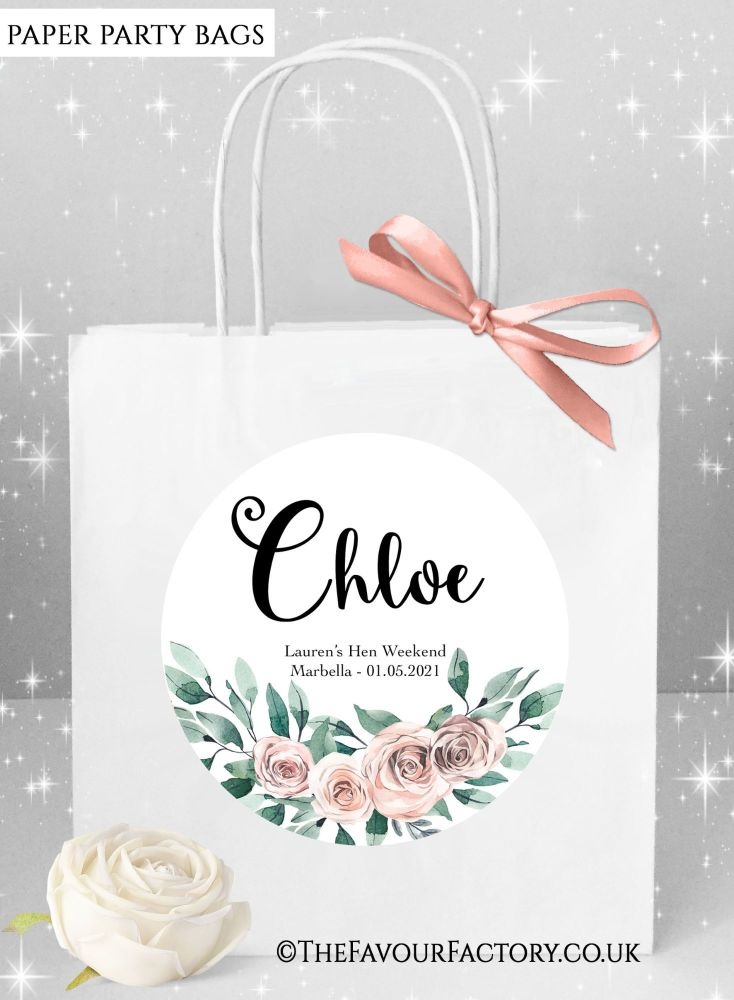 Floral Bouquet Hen Party Bags Named x1