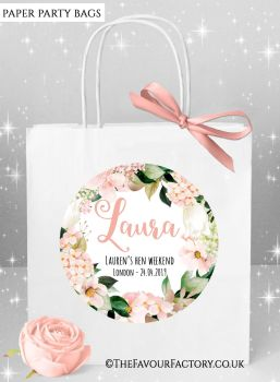 Blush Hydrangeas Hen Party Bags Named x1